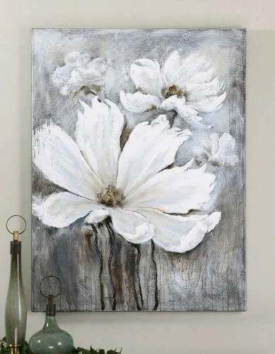 cuadros modernos flores 100x100 abstractos tripticos