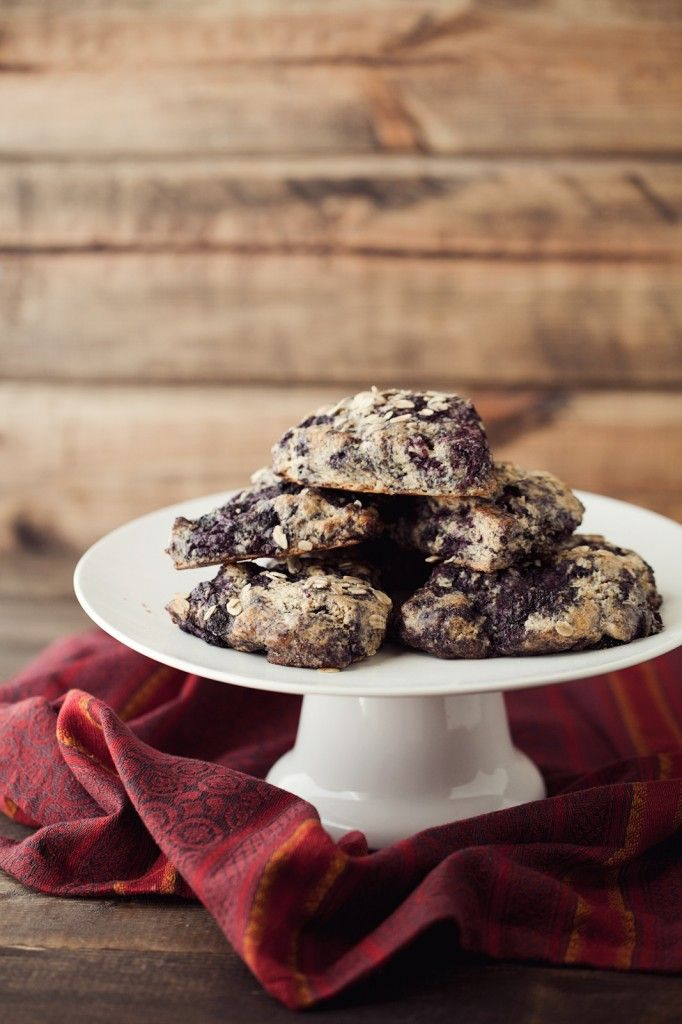 Black Raspberry Oat Scones - used regular ww flour and didn't have ...