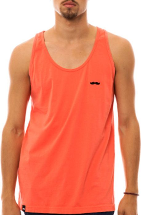 CBT The Signature Stache Tank in Coral