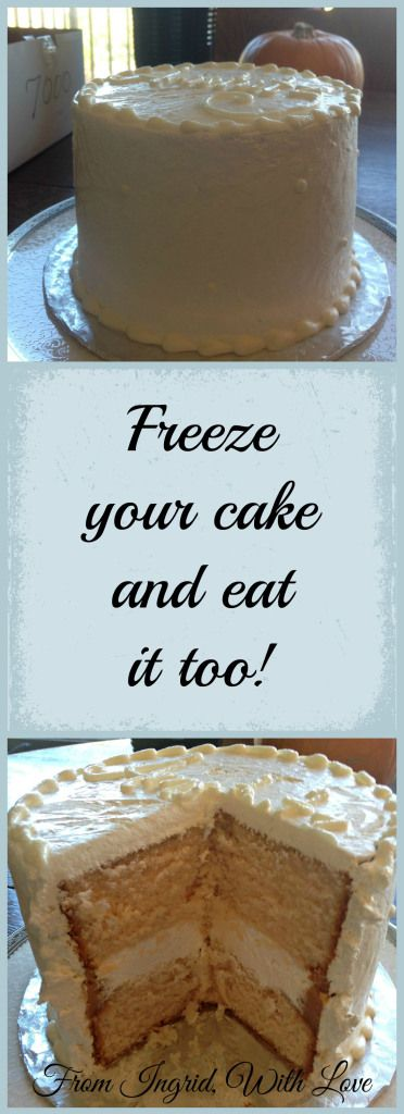 How to Freeze and Defrost Your Wedding Cake | From Ingrid, With Love