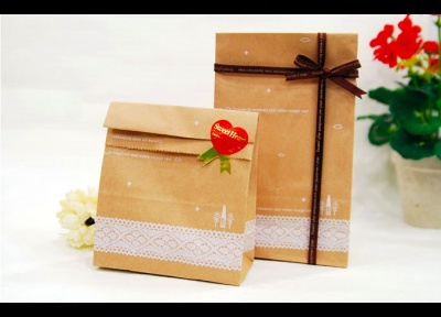 Lace Kraft Paper Bags - Set of 20 - Envelopes+Bags+Cards