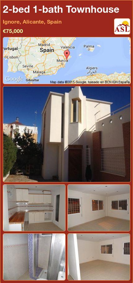 2-bed 1-bath Townhouse in Ignore, Alicante, Spain ►€75,000 #PropertyForSaleInSpain