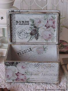caixas em mdf decoradas vintage chic - Pesquisa Google