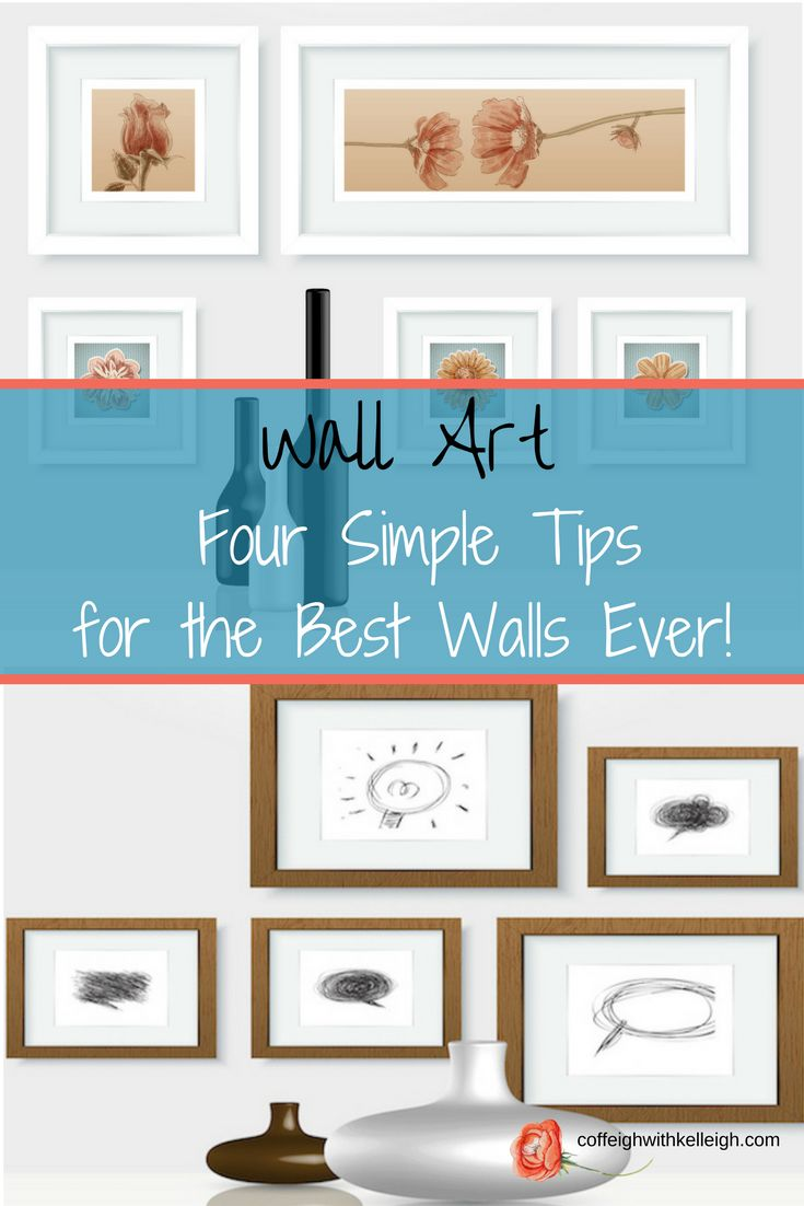 Learn how to hang wall art throughout your home.  Choosing frames, ideas for art, textures and gallery walls is an important part of home decor.
