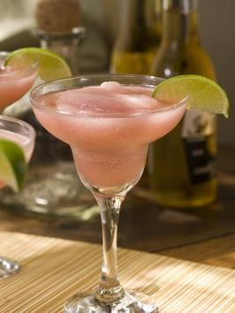 """Frozen """"Texas Twister"""" Cocktail: 2-1/2 to 3 oz. high-quality tequila - 1-1/2 oz. Grand Marnier - 1-1/2 to 2 oz. fresh lime juice - 1/4 pint frozen limeade - Splash of your favorite red wine such as Zinfandel - 2 cups crushed ice. Blend all ingredients with ice in blender until smooth. Pour into a chilled margarita glass. Garnish with a lime wedge. Yield: Two drinks"""