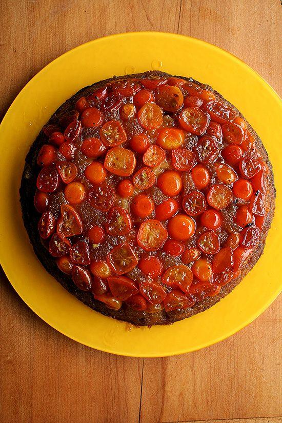 Kumquat Upside Down Cake - dessert today!