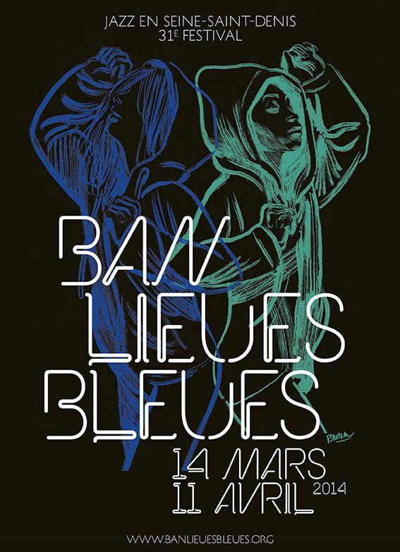 Banlieues Bleues 2014, Jazz en Seine-St-Denis (visuel Blutch)