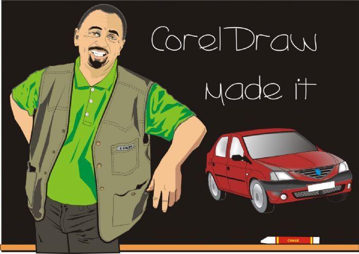 Autoportret realizat in Corel Draw