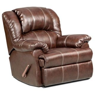 Shop for Brandan Bonded Leather Dual Rocker Recliner Chair, Brown. Get free delivery at Overstock.com - Your Online Furniture Shop! Get 5% in rewards with Club O!