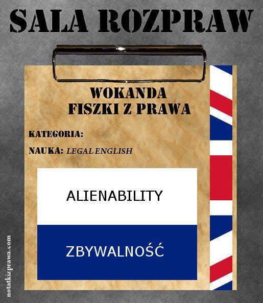 Alienability