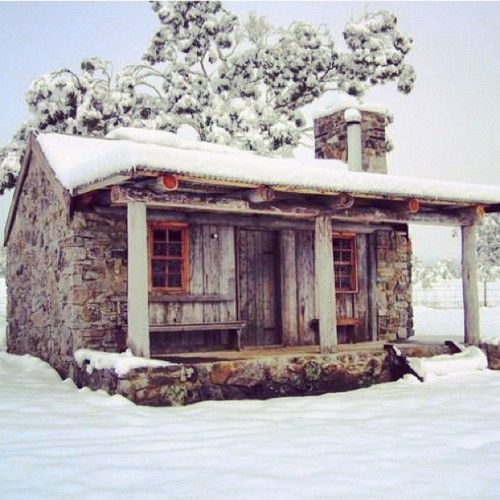 Tiny House, Winter, Dreams, Little Cabin, Stones Cabin, Rustic Cabin, Cottages, Places, Logs Cabin