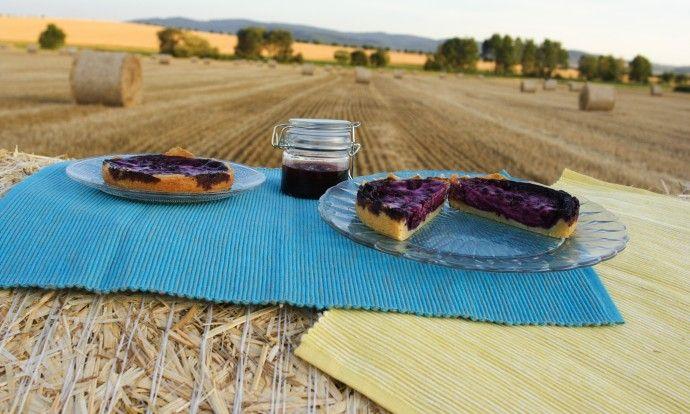 Finský borůvkový koláč Mustikkapiirakka