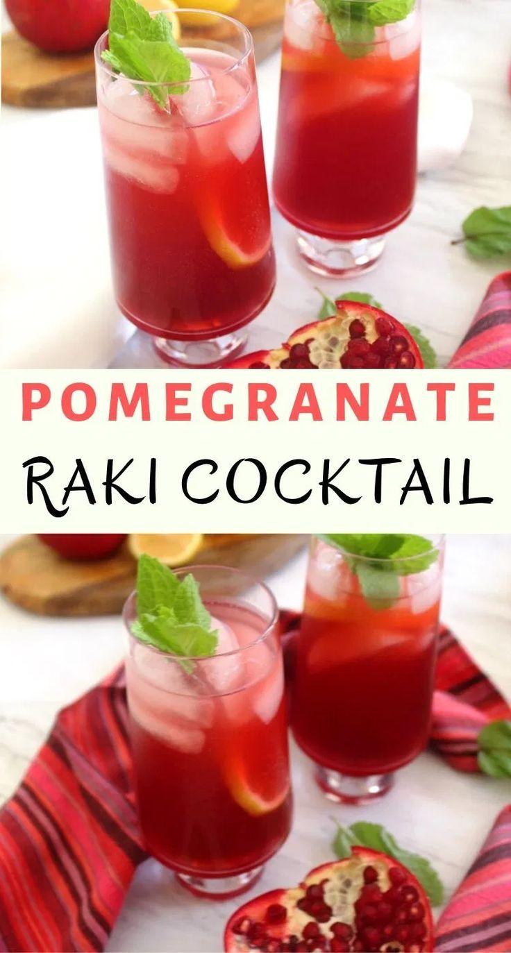 Pomegranate Lemon Raki Cocktail Pomegranate Cocktail Recipes Healthy Cocktails Perfect Drinks
