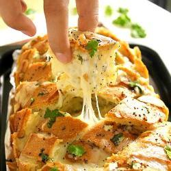 Stuffed Cheesy Bread - like cheesy onion garlic bread on crack!