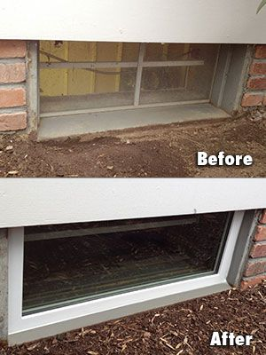 everlast basement window installation before after