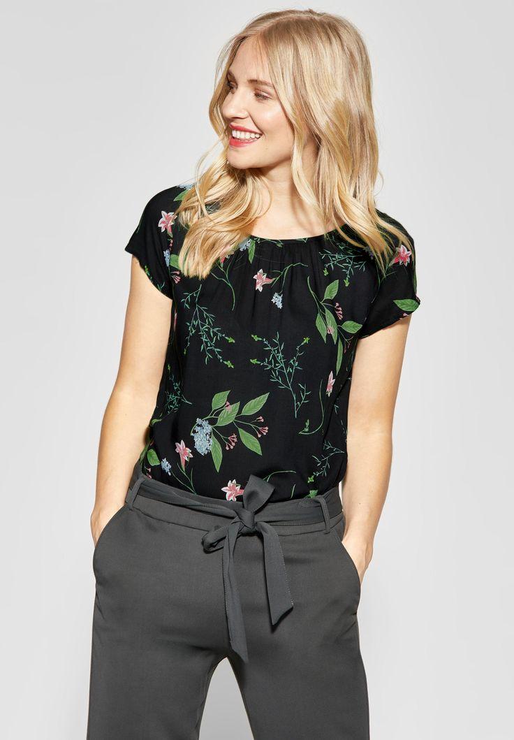 Street One – Allover Print Shirt Felia in Black