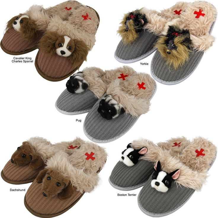 Fuzzy Nation Dog Breed Slippers - Every Purchase Funds Food and Care for Rescued Animals.
