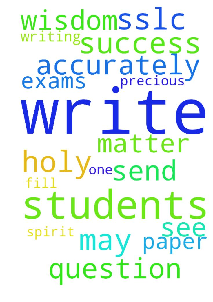 prayer for students. -  Dear lord Jesus, please help all the sslc students writing their exams, that each and every one of them will see success no matter how the question paper is. Send your holy spirit upon them as they write and fill them with wisdom that they may write accurately. In Jesus precious name we pray. Amen.  Posted at: https://prayerrequest.com/t/AUP #pray #prayer #request #prayerrequest