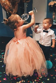Ring Bearer And Flower Girl And#8211; Super Cute Wedding Guests ❤ See more: http://www.weddingforward.com/ring-bearer/ #weddings