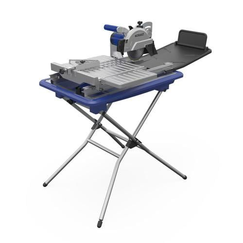 Kobalt 7 In 1 6 Wet Tabletop Sliding Table Tile Saw With Stand In The Tile Saws Department At Lowes Com In 2020 Sliding Table Tile Saw Table Top