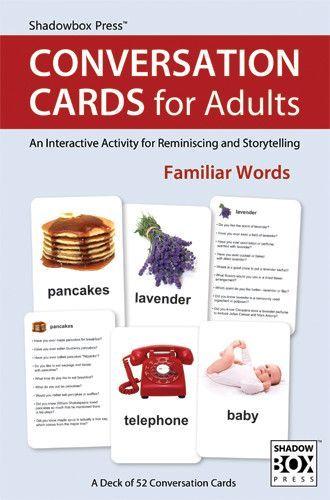 CONVERSATION CARDS for Adults – Familiar WordsRobin Allen