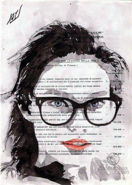 Honey - Картина ©2016 - Layla Oz -                                                                                                                    Иллюстрация, Поп-арт, Портретная живопись, Уличное искусство (Стрит-арт), Бумага, Люди, Портреты, Женщины