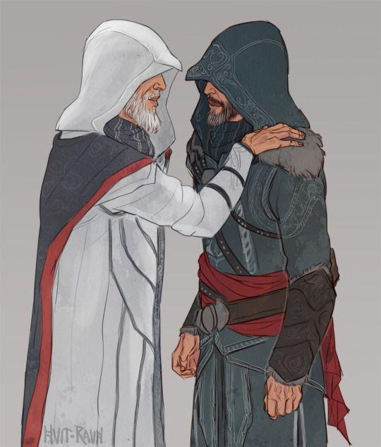 Old Ezio and Altair