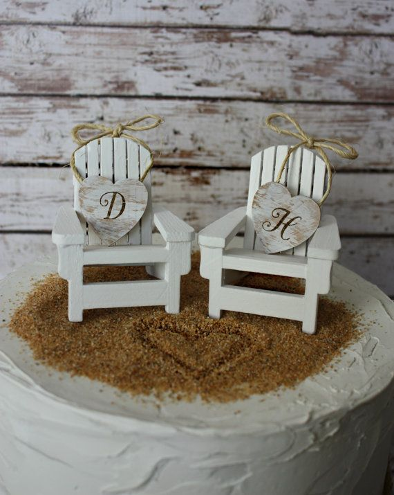 Adirondack beach wedding chairs-Adirondack chairs-wedding cake topper-beach chairs-beach wedding-destination wedding-beach-custom on Etsy, $29.00