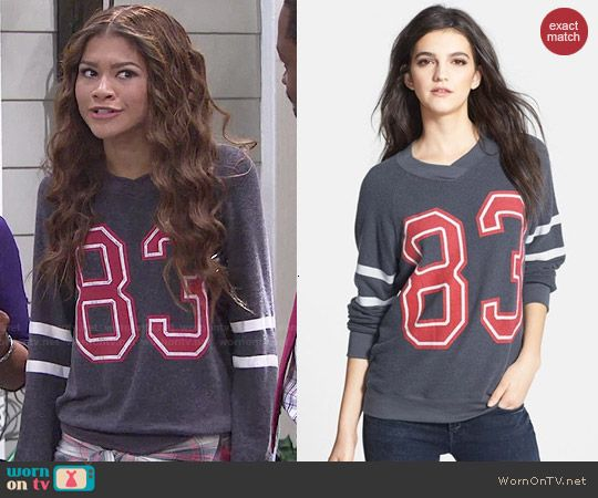 KC's 83 sweatshirt on KC Undercover.  Outfit Details: http://wornontv.net/48124/ #KCUndercover