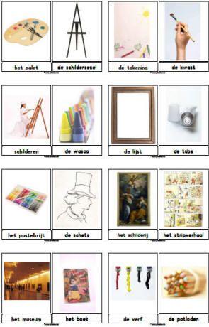 Lesideeën bij het thema kunst » Juf Sanne