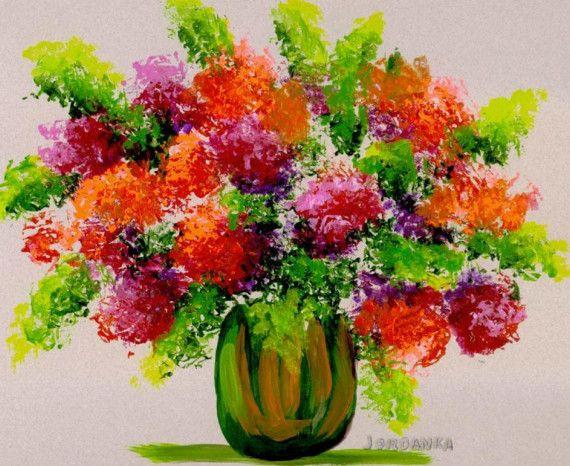 Original acrylic painting by Jordanka Yaretz Bouquet by treeartist, $39.00