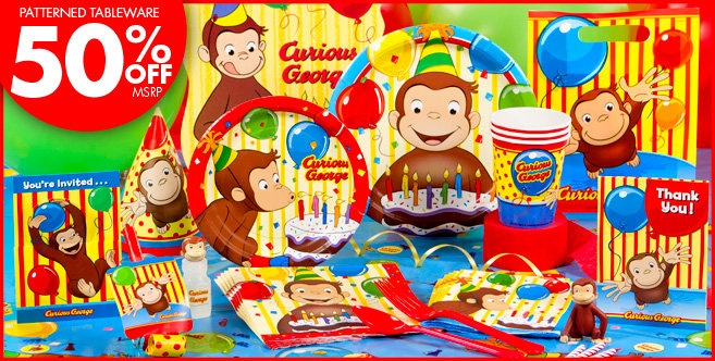 Curious George Party Supplies - Curious George Birthday - Party City