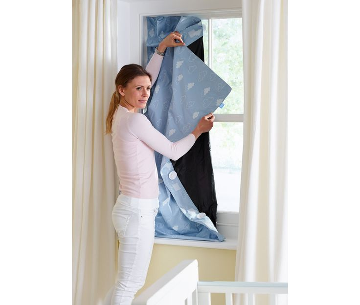 Gro Anywhere Blackout Blind - Blue Exclusive To Mothercare