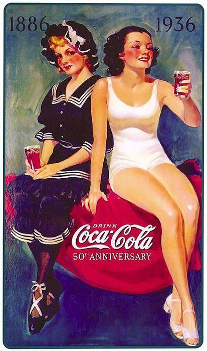 Coke's 50th anniversary. Love the creative.