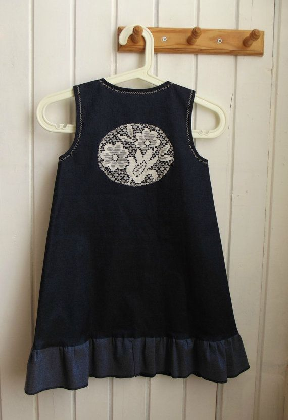 SALE    Free Shipping  girl's  clothing  blue sarafan  by ninaByou