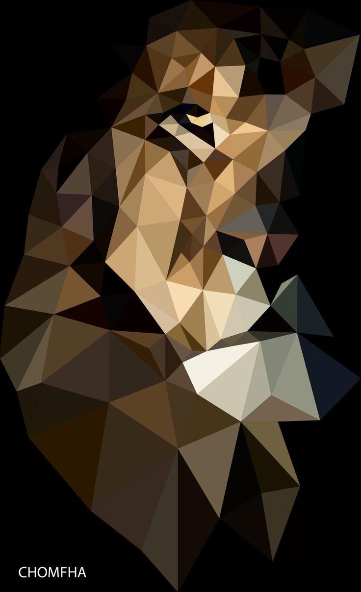 #Lion   #polygon