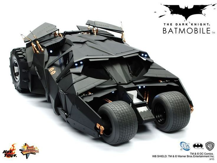 Hottoys MMS69 1 6 The Dark Knight Batman Batmobile Tumbler Black Collection | eBay