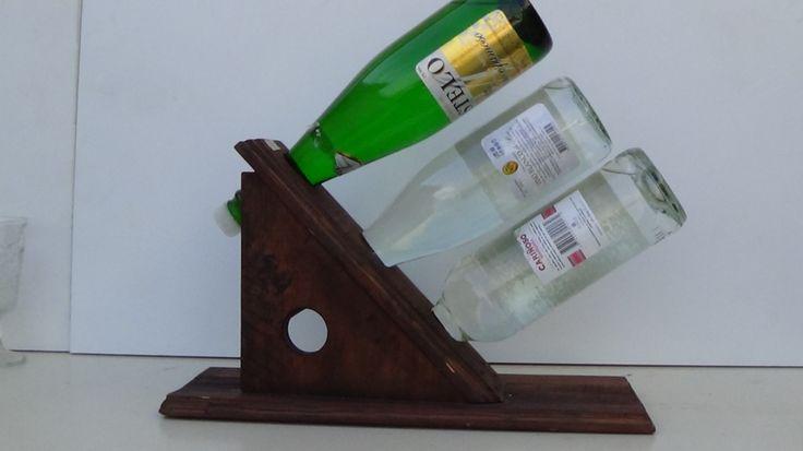 Porta botellas de vino para 3