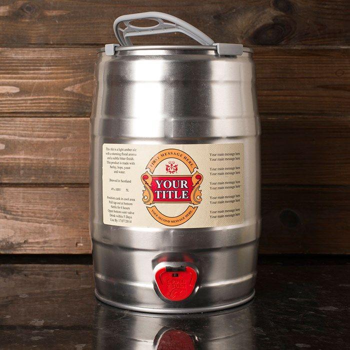 Personalised Keg of Beer 5L   GettingPersonal.co.uk