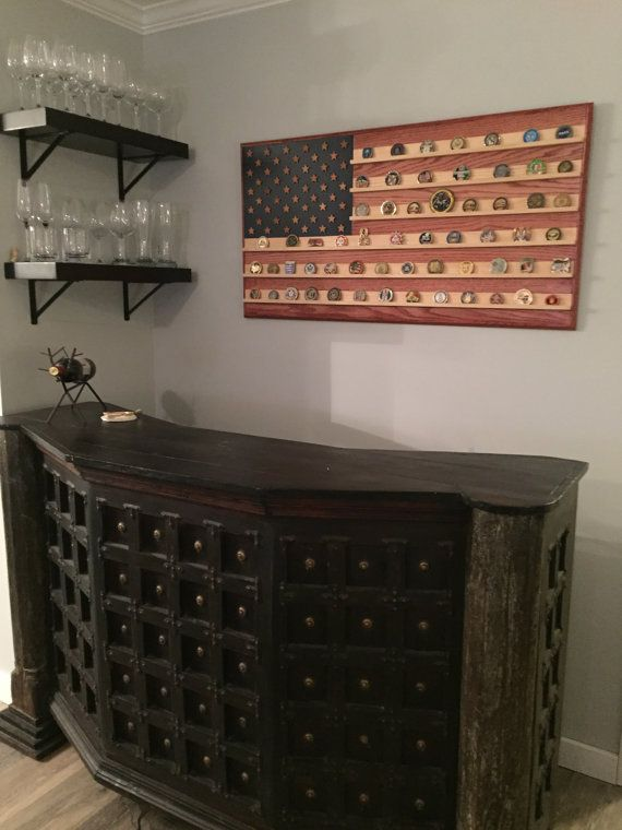 24 x 46 Large American Flag Challenge Coin Holder by Flags4Heroes