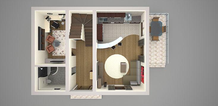 proiecte de casa cu parter si mansarda 3 plan parter