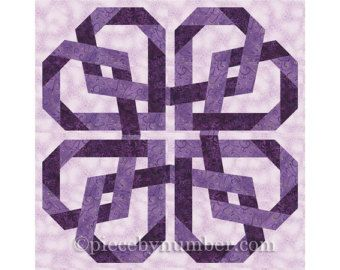 Octagonia quilt block pattern paper pieced by PieceByNumberQuilts