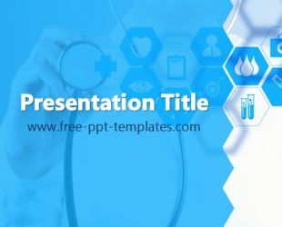 Health Care PowerPoint Template is a blue template with an appropriate background image of medical symbols and doctor which you can use to make an elegant and professional PPT presentation.