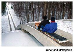 The Chalet's Toboggan Chutes, Strongsville, Ohio, Cleveland Metroparks, Cleveland Magazine