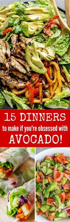 15 delicious ways to serve avocado for dinner so you can eat as much avocado as possible! Must try avocado recipes!