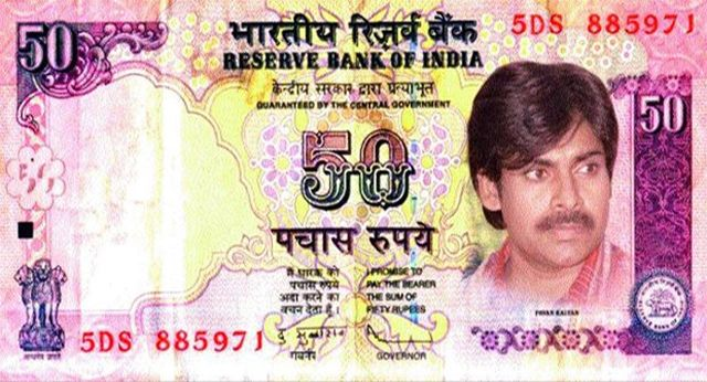 Pawan Kalyan replaces Gandhi http://goo.gl/FvQpJA In the fake notes that has gone viral on the social media, PAwan replaces the picture of Mahatma Gandhi.  http://www.thehansindia.com/posts/index/2014-08-28/Pawan-Kalyan-replaces-Gandhi-106207