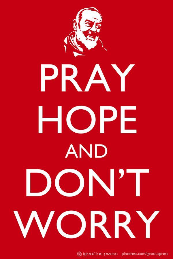 St. Pio, pray for us!
