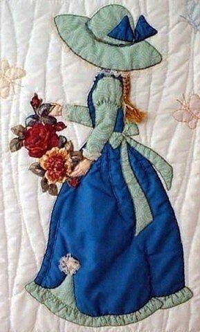 Вышивка на одеяле