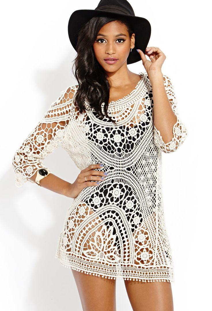 Femme Crochet Dress | FOREVER21 #Capsule21 #SummerForever