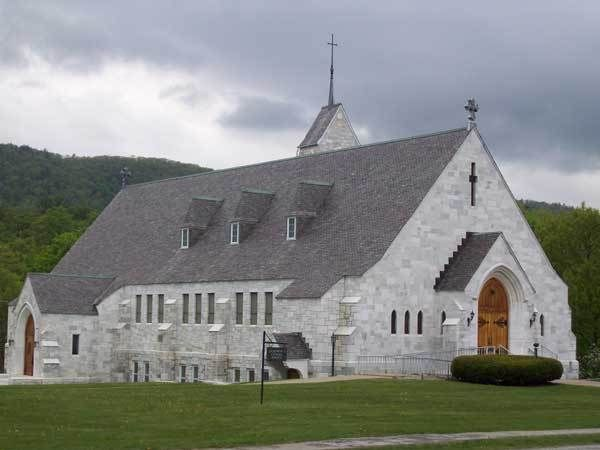 St. Dominic Catholic Church, Proctor, Vermont. Constructed almost entirely of Vermont marble